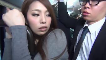 Japanese people Masses Public bus Molester Fuck