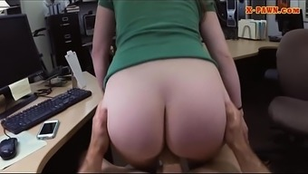 Blonde woman banged by pervert pawn man