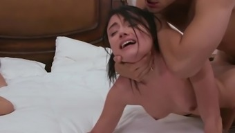 Adria Rae gets tyrannically fucked beside her mom