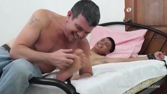 Daddy Mike Tickles Asian Boy Vahn