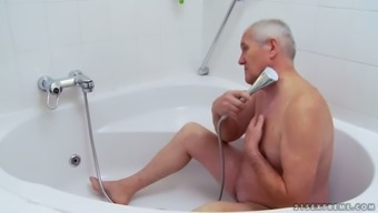 A Bath Along with Grand father