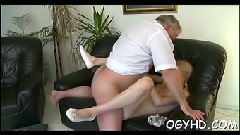 Little active hotty blows old ramrod