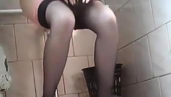 Secret cam in ladies potty
