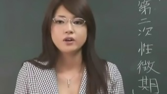 Erika Sato - Female Teacher Nakadashi Anus Attack