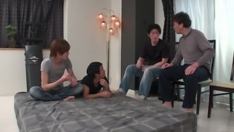 Bald Japanese people pussy of kawaii big tits nympho Yuri Honma is drilled puppy
