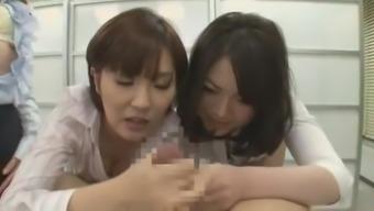 Incredible Japanese girl Chiharu Nakai in Horny Handjobs, Masturbation JAV movie