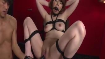 Reika Ichinose enjoys having intercourse in rough slavery show