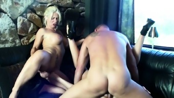 STEP MOM and DAUGHTER German in Real Threesome Fuck