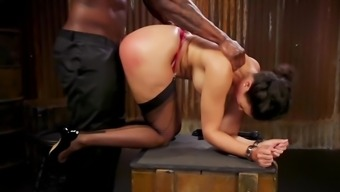 Brunette is well aware black man may shove big dick in her vagina