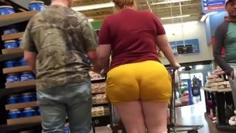Wow cute bbw country redhead booty