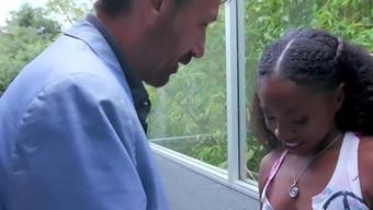 FILF - Petite Ebony Dicked By Friend's Creepy Uncle