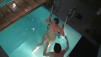 Drunk Neighbors Spycam Caught Night Pool Orgy