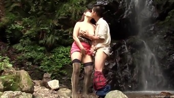Reiko Shimura is ready for hard fuck from behind in the forest