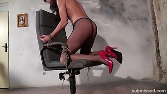 Adel Sunshine gets her wet pussy pleased by a long friend's toy