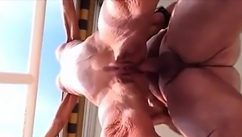 Wrinkled body grandma fucked and Creampied