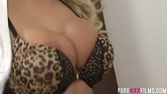 Brooklyn Blue is a gorgeous blonde milf with massive tits who likes sex from the back