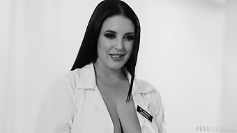 Nurse Alina Lopez rides her patient and Angela White helps her