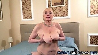 Busty gran gets creampied