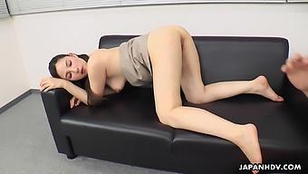 Japanese office lady, Ai Kamijou got fucked, uncensored