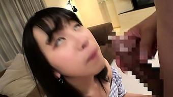 Asian girl blowjobs and cum facials