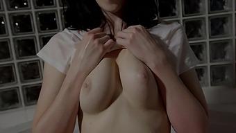 Brunette girl Alex Harper gets her hands on a friend's big cock