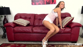 Busty younger splendor Alexis Adams does everything to your burning beam