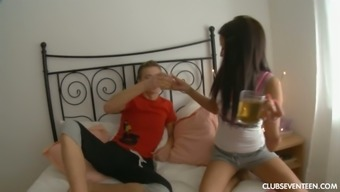 Gorgeous girl friend Elena C is unable to mind BF's friend fucking her also