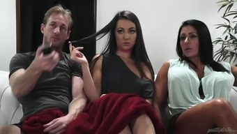 simone garza cries such as a spiteful lady as her daughter lily adams fucks her new guy