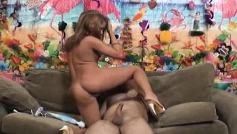 Dazzling baby with sexy both legs Tanner Mayes needs a large cock for a drive
