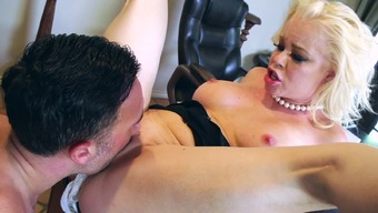 Big tits blonde with the use of big countefeit titties is having a number of sexy enjoyable