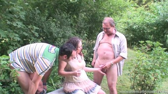 Becomes pregnant love gangbanged in the stadium by four grimy guys