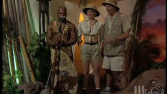 African-american tribe soldier is fucking a National Surrounding scientist