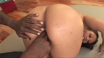 Over the edge model Angel Dark colored in fabulous threesome, cumshots intercourse show