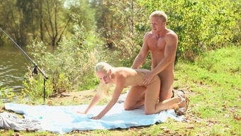 This bold blonde is severely into getting fucked open air