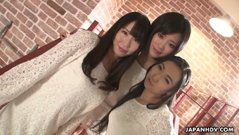 Delightful Japanese people cutie Sanae Momoi and her attractive friends like sex products