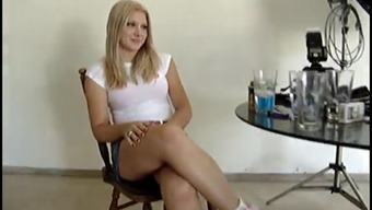 Patient in sport shoes plus a mini skirts desires you to actually observe her ass
