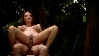 Extraordinary girl is having pleasant sex within the woodland