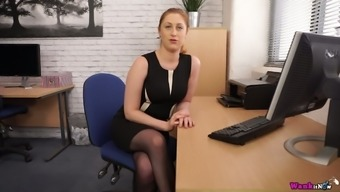 Horn-mad light haired body flashes her legs at once and masturbates herself