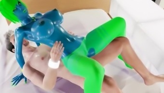 Beautiful visual Blue Unfamiliar Monster Baby By using Big Tits In Adult Online gaming!