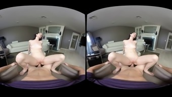 Playful tit brunette sucks and rides in visual POV
