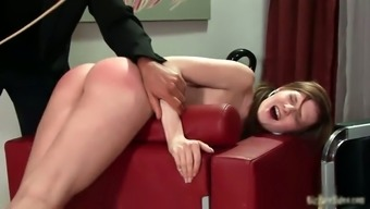 Malicious schoolgirl babe gets spanked hard part5