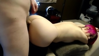 Fucked girl from behind and cumshot in their pussy