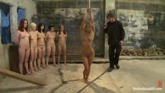 Wild babes are going through a number of misery in this BDSM