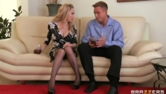Lovely light MILF Aiden Starr makes her son-in-law to hack