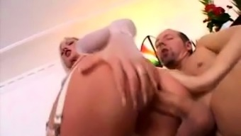 Blonde Alexandra Cat makes her anal dreams a reality