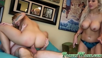 Luscious stepsis Alina West ass banged and big cock creampie