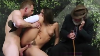 Big hard dick gets to fuck Abella tight shaved pussy