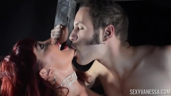 busty milf Sexy Vanessa is the real queen of a blowjob and sex