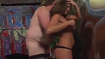 Montana straps one on and gives Jane a ride